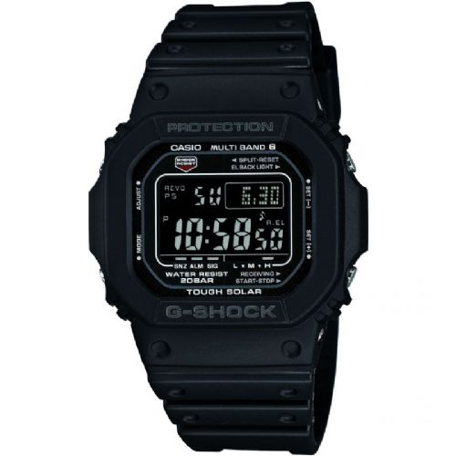 GW-M5610-1BER Casio Watch G Shock Men's Black Rubber Strap Digital With Silver Coloured Numbers